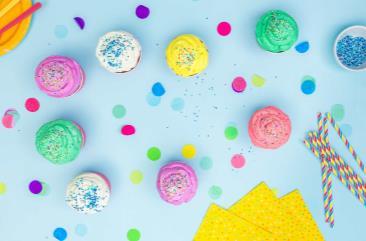 Regenboogupcakes